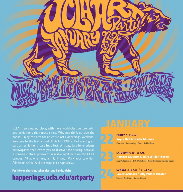 UCLA Art Party Poster